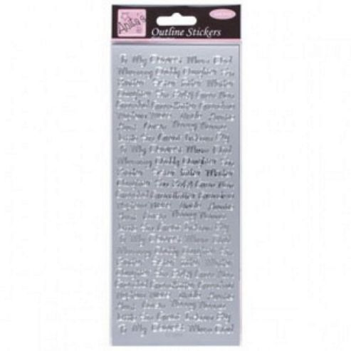 Outline Stickers Relative Messages Silver