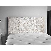 ValuFurniture Doll Velvet Fabric Headboard - Cream - Small Double 4ft