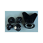 FLR MTB Spare Studs with Key in Black (pack of 4)