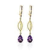 QP Jewellers 3.0ct Amethyst Sceptre Earrings in 14K Gold