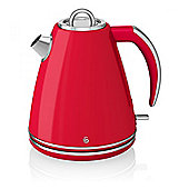 Swan SK24030 1.5L Jug Kettle with 3000w Power and Boil-Dry Protection in Red