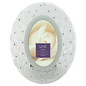 Tesco Glass Lace Oval Frame White