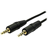 StarTech (3ft) 3.5mm Stereo Audio Cable Male/Male (Black)