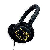 Hello Kitty Fur Earmuffs Black