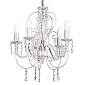 Lille Five Way Ceiling Light, Distressed White