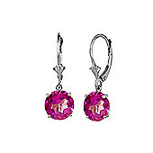 QP Jewellers 2.70ct Pink Topaz Leverback Earrings in Sterling Silver