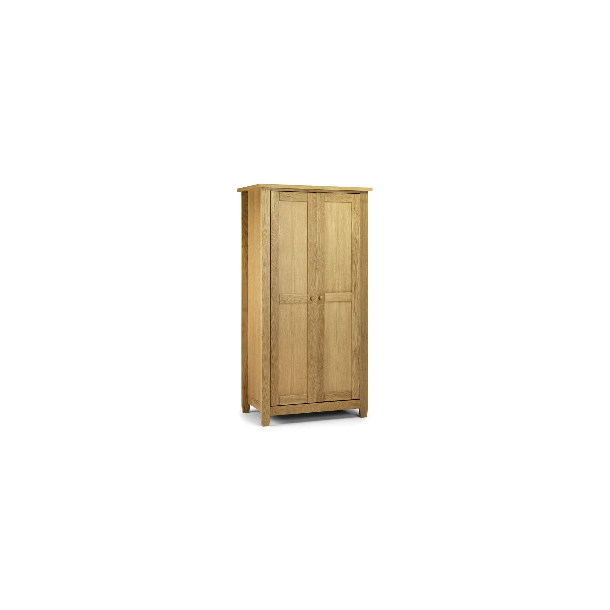 Julian Bowen Lyndhurst 2 Door Wardrobe in American White Oak at Tesco Direct