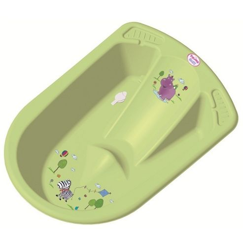 Hippo Anatomic Baby Bath Green