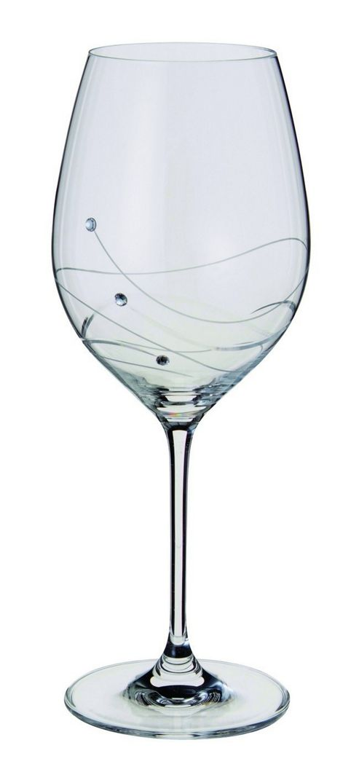 Dartington Crystal - Glitz Collection Wine Goblet Pair