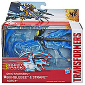 Transformers Age of Extinction - Dino Sparkers Bumblebee and Strafe Figures