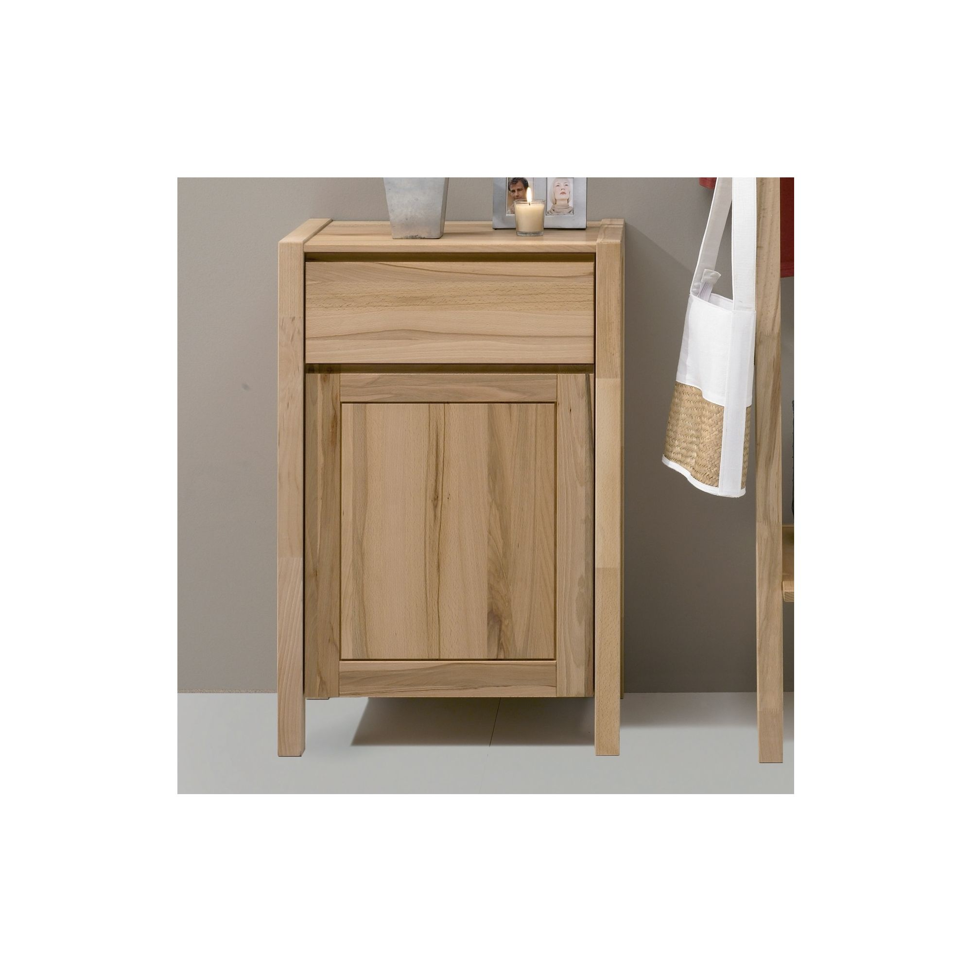 Oestergaard Mille Chest of Drawers with 1 Drawer - Heartwood Beech solid at Tescos Direct