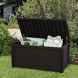 Keter Borneo Rattan Style 400L Garden Storage Box