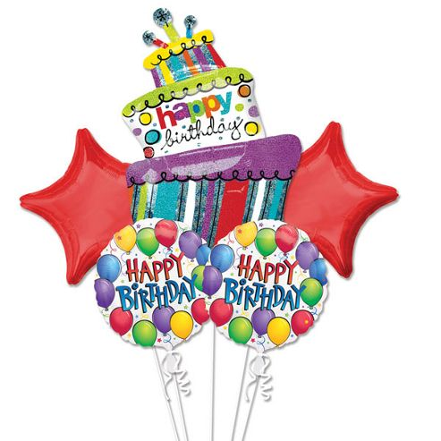 Buy Happy Birthday Balloon Bouquet - Assorted Foil from our All ...