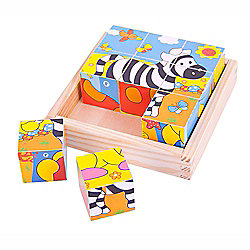 Bigjigs Toys BJ512 Safari Cube Puzzle