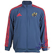 Adidas Munster Rugby Union Player Issue Presentation Clima Zipped Jackets - Navy