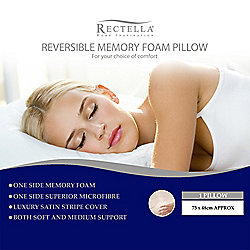 Rectella Memory Foam Pillow - Medium Support