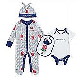 England RFU Baby Rugby 4 Piece Gift Set - White