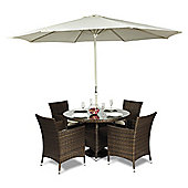 Savannah Round 4 Seat Rattan Dining Set