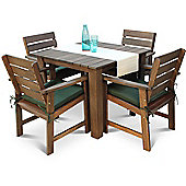Somerset Set With Green cushions -Seats 4