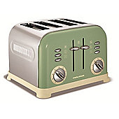 4 Slice Accents Sage Green Toaster