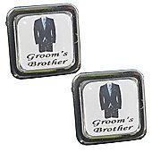 Blue Tie - Groom's Brother Wedding Cufflinks