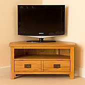 Lanner Corner TV Stand - Rustic Oak