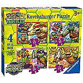 Ravensburger 4 in a Box Puzzles - Teenage Mutant Ninja Turtles Half-Shell Heroes