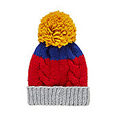 Mothercare Boy's Multi Coloured Beanie Hat Size 6-12 months