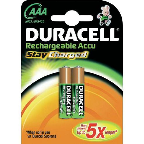 Duracell AAA Rechargeable Battery x2 NiMH 1.2v 800 mAh
