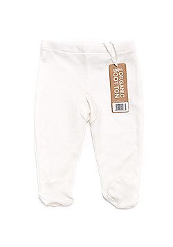 Little Green Radicals (Natural Collection) Footed Baby Trousers - Cream