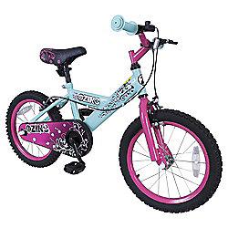 "Zinc 16"" Girls Blue & Pink Bike"