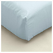 Double Fitted Sheet - Duck Egg
