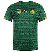 2014-15 Cameroon Home World Cup Football Shirt - Green