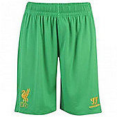 2012-13 Liverpool Goalkeeper Home Shorts (Green) - Kids - Green