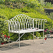 Gloucester 2 Seat White Cast Bench (128cm)