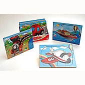 Traditional wood 'n' fun 9 pc Wooden Transport Puzzle 2yrs+ - Train