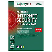 Kaspersky Internet Security 2015, Multi Device, 5 Devices, 1 Year, CD