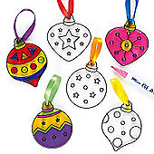 Christmas Tree Bauble Suncatchers Children (6 Pcs)