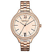Caravelle New York Carla Ladies Crystal Watch - 44L125