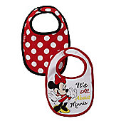 Minnie Mouse Bibs - 2 Pack