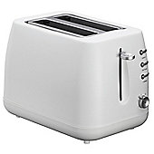 Tesco 2TWP13 2 Slice White Plastic Toaster