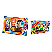 Looney Tunes 100 Piece Jigsaw Puzzle Bundle - Tweety & Sylvester And The Looney Tunes Show Characters - 2 Items Supplied