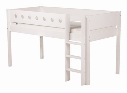 Flexa Flexa White Midsleeper Bed - Natural Lacquer - White/birch