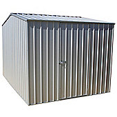 Absco 2.26m x 3m Zinc Colour Metal Shed