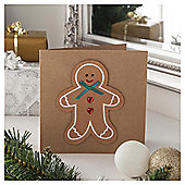 Tesco Luxury Gingerbread Man Christmas Cards, 6 Pack