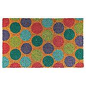 Tesco Coir Mat 45x75cm - Sherbet Spots
