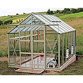 Rhino Premium Greenhouse 8x12 Silver Sage Finish
