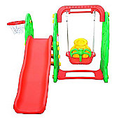 Homcom Kids Garden Playground 3in1 Swing Slide Basketball