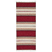 Swedy Ljung Red / White Rug - Runner 60 cm x 180 cm (2 ft x 5 ft 11 in)