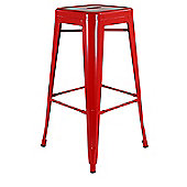 Xavier Pauchard High Red Tolix Style Stool
